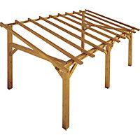 Rothley 'Sherwood' Lean-To Carport Framework Kit - 14 x Gazebo Pergola, Vinyl Pergola, Rustic Pergola, Curved Pergola, White Pergola, Small Pergola, Wood Pergola, Modern Pergola, Pergola Attached To House