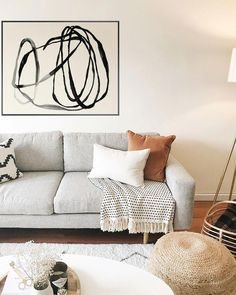 Living Room luxury-living-room-and-interior-design-with-white-sofa-and-cool-decoration Luxurios and Modern Style Living Room Design Ideas Living Room Grey, Living Room Furniture, Living Room Decor, Living Rooms, Gray Furniture, Decor Room, Living Room Artwork, Room Decorations, Wall Sconce Living Room