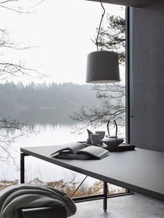 I want a room with this view and the perfect interior designed by Vipp. Simply stunning.See more...