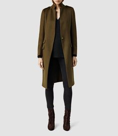 Olive Overcoat from AllSaints.