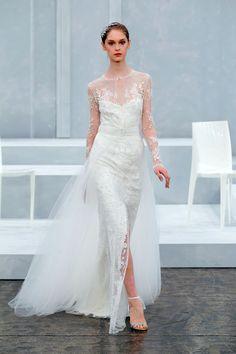 Best in Bridal: Spring 2015 Monique   http://www.hawaiianweddings.net #weddingdresses #harpersbazaar #springfashionweek