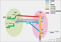 Osaka to 神戶 route