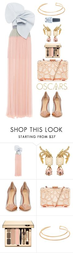"""""""Delpozo"""" by thestyleartisan ❤ liked on Polyvore featuring Delpozo, Oscar de la Renta, Gianvito Rossi, BERRICLE, OPI, RedCarpet, Oscars and oscarfashion"""