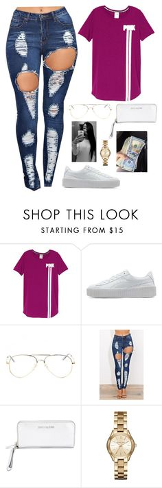 """Untitled #390"" by amourhailey ❤ liked on Polyvore featuring Puma, MICHAEL Michael Kors and Michael Kors"
