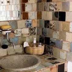 17 ideas para conseguir un baño de estilo rústico Bathroom Decor Ideas baño conseguir estilo Ideas Para rústico Handmade Tiles, Handmade Ceramic, Handmade Pottery, My Dream Home, Sweet Home, New Homes, House Design, Decoration, House Styles