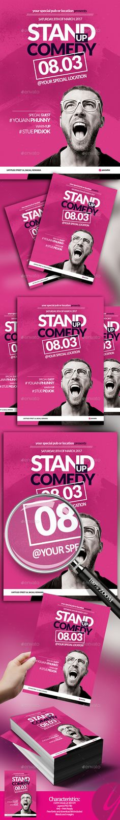 Stand Up Comedy Flyer - Events Flyers
