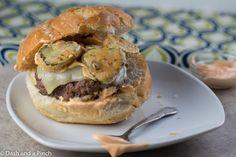 """Pickle my funny bone"" burger, AKA Bob's Burgers Burger of the Day!"