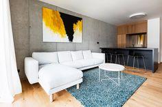 Byt architekta, Janka Kráľa, Banská Bystrica   Archinfo.sk Architecture Design, Couch, Furniture, Home Decor, Architecture Layout, Settee, Decoration Home, Room Decor, Sofas