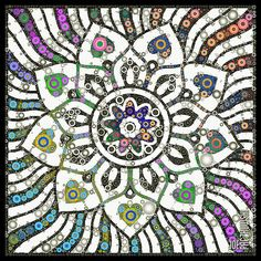 A beautiful representation of the Baha'i Faith's Nine Pointed Star, artistically created herein by Joe Paczkowski.