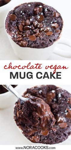 Mar 2020 - The BEST Chocolate Vegan Mug Cake! Super fudgy, moist and easy to make anytime you need a chocolate fix! Mug Recipes, Best Vegan Recipes, Vegan Dessert Recipes, Köstliche Desserts, Gourmet Recipes, Delicious Desserts, Steak Recipes, Kitchen Recipes, Recipes Dinner