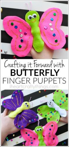 Butterfly Finger Puppets