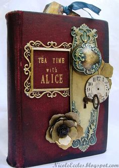 Alice in Wonderland altered book 'Tea Time with Alice'