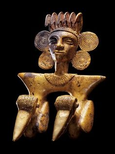 Panamá: Newfound tombs from the unnamed civilization of the 'Golden Kings,'  ca.700-1000 A.D. in Panama.  Pendant from El Caño, Panama