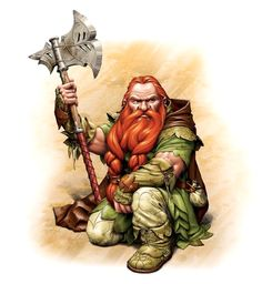 Male Dwarf Ranger - Pathfinder PFRPG DND D&D d20 fantasy