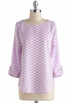 Zoom Bisou Top in Zigzag, @ModCloth