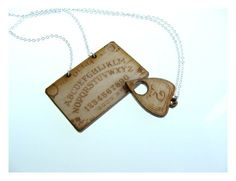 Ouija Board  and Planchette Best Friends or Couples Necklace Set