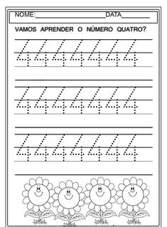 1 to 10 Numbers Line Study - Preschool Children Akctivitiys Preschool Painting, Preschool Books, Preschool Worksheets, In Kindergarten, Learning Activities, Preschool Activities, Letter Tracing Worksheets, Writing Worksheets, Kids Study