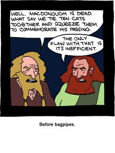 Before bagpipes - Saturday Morning Breakfast Cereal