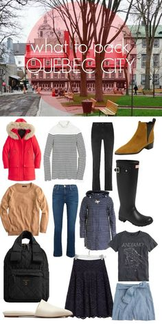 What to Pack for Quebec City; layer up for the weather so that you can enjoy your time touring around this historical city.