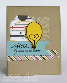 Crafty Girl Tessa Wise created this super stinkin' cute card, making all things brighter.