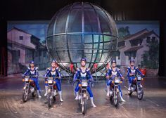 Does your sales department feel like a circus act?    Flying motorcycles act at Cirque de Chine - Sevierville, TN