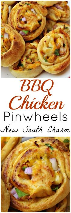 BBQ Chicken Pinwheels this easy recipe is perfect for a party, tailgate or easy dinner.