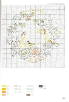 Just Cross Stitch, Cross Stitch Animals, Cross Stitch Flowers, Cross Stitch Charts, Cross Stitch Designs, Cross Stitch Patterns, Cross Stitching, Cross Stitch Embroidery, Embroidery Patterns