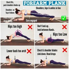 ⭐️Forearm Plank⭐️ is one of the yoga pose that really fire  up your core, legs and arms. It is a great pose for preparing your body for arm balances and inversions. Here are 4 different mistakes that students always make when they are practicing forearm plank. Practice in front of a mirror next time to check and correct your alignment. Happy planking   .