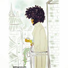 Black in Parisian balcony par Nikisgroove sur Etsy
