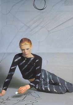 David Bowie Kabbalah  <3 One of my favorite Bowie photoshoots ever. I need some white paint.