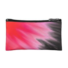 Pink Flamingo Cloud Watercolour Wash Black Cosmetic Bag - black gifts unique cool diy customize personalize