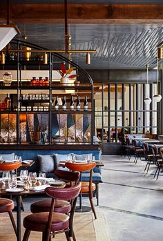 hotel restaurant This Quaint New England College Town Might Be the Next Big Travel Destination Bar Restaurant Design, Deco Restaurant, Riverside Restaurant, Western Restaurant, Modern Restaurant, Boutique Hotels, A Boutique, Casa Hotel, Hotel Lobby