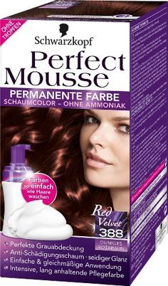 schwarzkopf perfect mousse permanente farbe stufe 3 388 dunkles rotbraun 3er pack 3 - Coloration Mousse