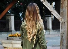a great really light ombre for people with a dark roots! perfect