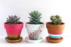 21 Creative DIY's To Embelish Your Boring Planters