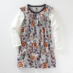 Almond Blossom Flutter Sleeve Layered Dress