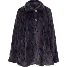 Oliver Jung Dark-Blue Plus Size Textured two tone faux fur coat ($280) ❤ liked on Polyvore featuring outerwear, coats, plus size, imitation fur coats, womens plus coats, short coat, faux fur coats and blue faux fur coat