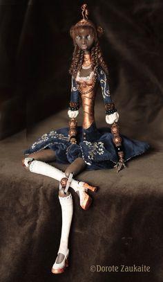 Unique art doll, Ana, by Dorote Zaukaite, via tirelessartist on Etsy.