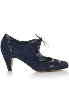 Shop Annie Navy Suede Shoes by Agnes & Norman at LUX-FIX.com