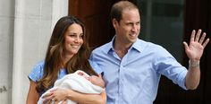 "23 July, 2013 - LONDON - Meet the Prince of Cambridge! Prince William and Kate Middleton proudly debuted their son on the steps of St. Mary's Hospital today just before heading to their home at Kensington Palace.  The new mother told the crowd, ""it was very emotional, it is such a special time."" Will, who cradled his son, told reporters that the baby takes after his mother, saying, ""He's got her looks, thankfully."" AP Photo/Kirsty Wigglesworth"