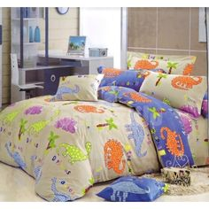 Detské posteľné obliečky béžovej farby s dinosaurami Comforters, Blanket, Bed, Home, Creature Comforts, Quilts, Stream Bed, Ad Home, Blankets