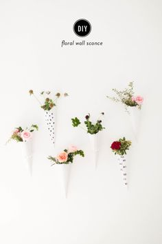 Floral wall sconces for Valentine's Day: http://www.stylemepretty.com/living/2015/02/03/diy-floral-wall-sconces/ | Photography: to Wander and Seek - http://www.towanderandseek.com/