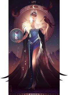 Hel ~ Norse Gods and Goddesses by Yliade on DeviantArt – Norse Mythology-Vikings-Tattoo Hel Goddess, Greek Goddess Art, Greek Mythology Art, Greek Gods And Goddesses, Roman Mythology, Norse Mythology Goddesses, Moon Goddess, Egyptian Art, Mythical Creatures