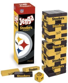 Pittsburgh Steelers Jenga by USAopoly, http://www.amazon.com/dp/B000NJFJTU/ref=cm_sw_r_pi_dp_IOtisb1XQTHTE