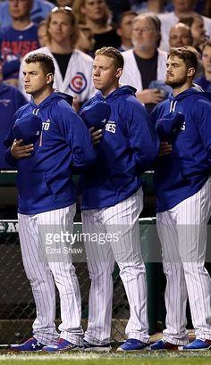 Albert Almora,Rob Zastryzny,Justin Grimm,CHC, pregame//Oct 29,2016 World Series Game 4 v CLE