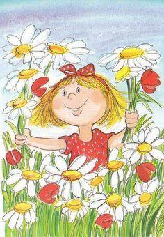 Friendship From my awesome sister, Sandy! June Flower, Daisy Art, Illustrations, True Friends, Whimsical Art, Friends Forever, Rock Art, Cute Art, My Best Friend