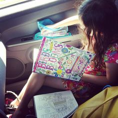While Were Running Errands In Our New Town We Keep Little B Busy With Coloring Books