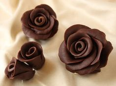 Chocolate Roses are gorgeous, delicious lifelike flowers made out of a candy paste called chocolate plastic. This photo tutorial will give you step-by-step instructions showing how to make chocolate roses. Cake Decorating Tips, Cookie Decorating, Cake Cookies, Cupcake Cakes, Cupcakes, Decoration Patisserie, Chocolate Flowers, Cake Tutorial, Photo Tutorial