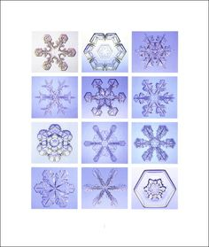 There are some beautiful photos to print to use in class and books to buy from this site. www.its.caltech.edu under snowflake books Photos can be printed from site for small, personal classroom non-commercial use from snowcrystals.com book2x.jpg (4993 bytes)