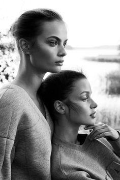 "Moa Aberg & Becca Breymas in ""Urban Sport"" for Elle Sweden (Alexander Wang x H&M)  Photographed by: Benjamin Vnuk"
